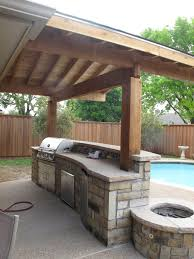exterior design best wooden pergola cover with outdoor kitchen