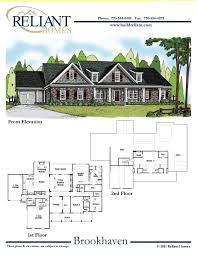 reliant homes the brookhaven plan floor plans homes homes