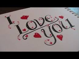 cursive fancy letters how to write i love you youtube