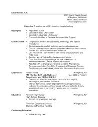 resume pediatric nurse resume examples nursing resumes for new