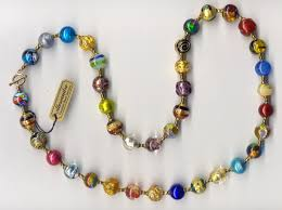 bead design jewelry necklace images Venetian beads jpg