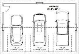 3 Car Garage Plans 36x24 3 Car Garages 864 Sq Ft Pdf Floor Plans 5 12 Roof