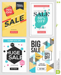 design poster buy sale and discount flyers 5 stock vector illustration of promotion