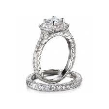 Vintage Wedding Ring Sets by Gia Certified 1 Carat Princess Cut Diamond Vintage Wedding Ring