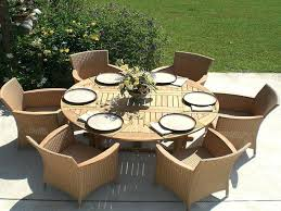 stylish round wood patio table best round wood patio table