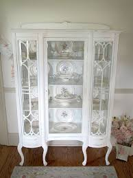 antique curio cabinet with curved glass gorgeous antique white china cabinet with curved glass mod home org