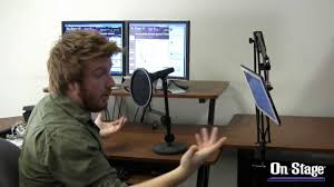 mbs5500 studio webcasting boom arm mount youtube