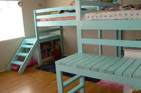 Plans To Build A Bunk Bed With Stairs by Extra Tall Loft Bed A Customer Built Using Our Plans Loft Beds
