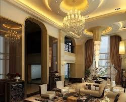 luxury villa living room design with amazing ceiling lighting