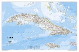 Cuba On A Map Cuba Wall Map Wall Maps