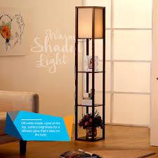 Floor Lights For Bedroom by Brightech Store Maxwell Shelf Floor Lamp U2013 Modern Mood Lighting