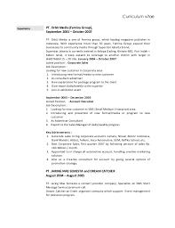 curriculum vitae layout 2013 nissan bodro bahwono cv