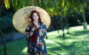 wallpaper girl style asian girl umbrella retro style dress wallpaper girls