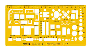 rotring 1 50 furniture template r8537810 graphics direct