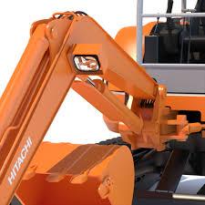mini excavator hitachi ex50u 3d model cgtrader