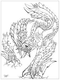 monster by juline myths u0026 legends coloring pages for adults