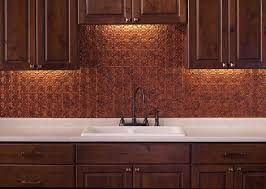 copper backsplash kitchen kitchen with wooden cabinets and copper backsplash kitchen