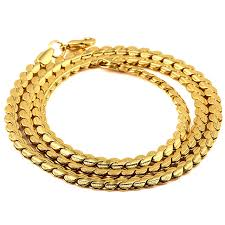 luxury gold necklace images Luxury gold snake chain cuban link chain statement necklace jpg