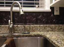 Tin Tiles For Kitchen Backsplash Decorating Creating Breezy Kitchen Design Using Tin Backsplash