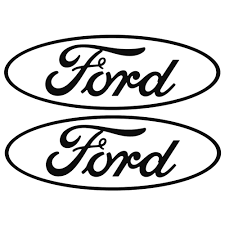 graphic express n300 p bk decal ford oval logo black 3