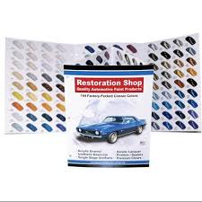 buy 144 restoration shop color chart auto car paint chips in cheap