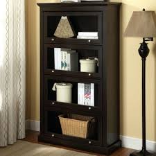 bookcase acadian ladder book case 18 inch deep white wide wood