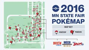 minnesota state fair map mn state fair pokémon go map wcco cbs minnesota