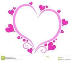 decorative pink valentine u0027s day heart outline stock image image