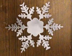 6 metal snowflake ornament decoration cutting edge