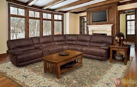 Reclining Sectional Sofas by Parker Living Pegasus 6 Piece Brown Power Reclining Sectional Sofa