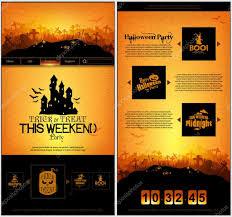halloween template halloween one page design template u2014 stock vector kjolak 85232432