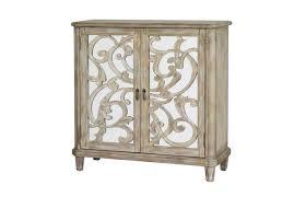 Pulaski Wine Cabinet Mirrored Accent Cabinet With Wine Storage In Driftwood By Pulaski
