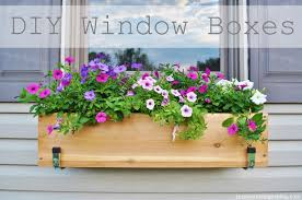 What To Plant In Window Flower Boxes - window garden box diy home outdoor decoration