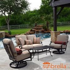 outdoor patio conversation sets 2 bocage 4 piece cast aluminum patio conversation set w loveseat