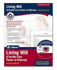 Medical Power Of Attorney Form Florida by Amazon Com Adams Living Will And Power Of Attorney For