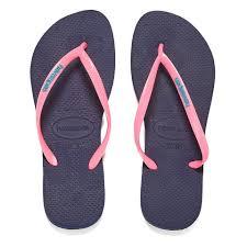havaianas women u0027s slim logo flip flops navy blue pink womens