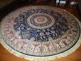 8x8 Rugs Persian Silk Rugs 8 U0027 Round Rugs Navy Silk Rug Circle Floor Carpet