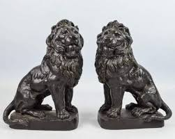 lion bookends heavy cast metal lion bookends shopgoodwill great reads for a