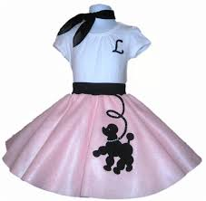 50s Halloween Costumes Poodle Skirts Norah Halloween 3pc Toddler Size Prancing Poodle Skirt