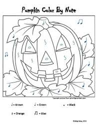 38 color note worksheets images music