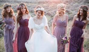 purple bridesmaid dresses purple wedding color ideas beautiful bridesmaid dresses and