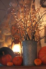 Lighted Branch Tree Lighted Branches In Autumn Floral Arrangement Trendy Tree Blog