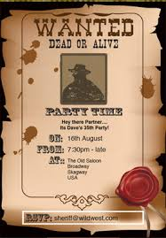 western invitations template best template collection
