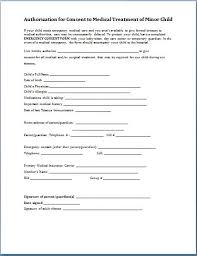 child medical consent forms free parental medical consent form