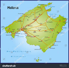 Mallorca Spain Map by Map Mallorca Highways Stock Illustration 170730044 Shutterstock