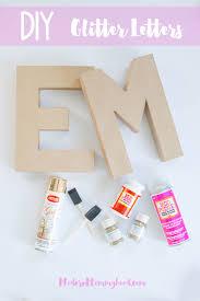 diy glitter letters glitter letters super easy and nursery