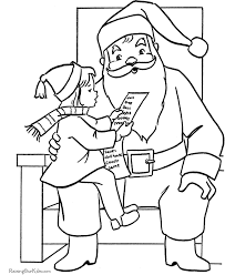 santa claus coloring pages sitting santa u0027s lap