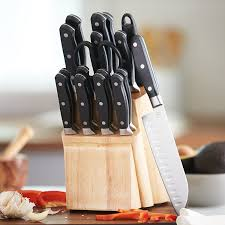amazon com amazonbasics premium 18 piece knife block set kitchen