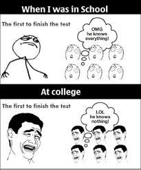 Funny Memes About School - funny meme school vs college jpg ggland