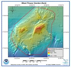 Mexico Maps Flower Garden Banks National Marine Sanctuary Maps
